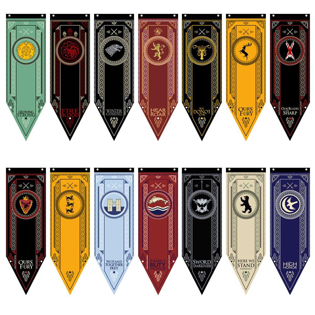 Game of Thrones House Stark Targaryen Banner Wall Hanging Flag Decor 48*150CM CA