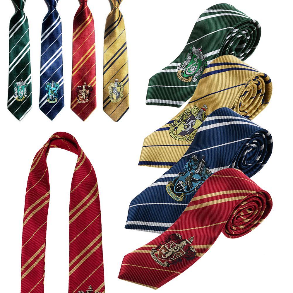 Harry Potter Tie Costume Gryffindor Hufflepuff Slytherin