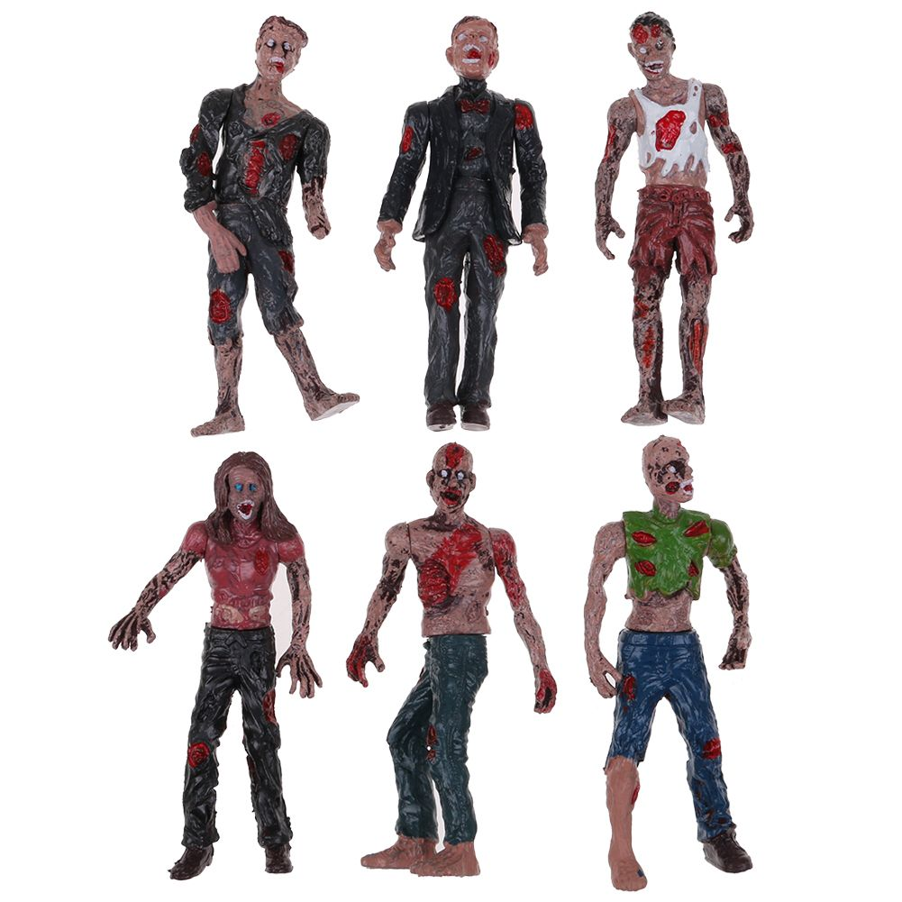 Set 6Pcs Walking DEAD Corpses Movie Characters Action Zombie Figures Kid Toy