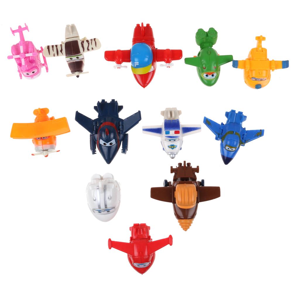 8pcs//Set Super Wings Transforming Flugzeug Charakter Kind Mini Nettes Spielzeug