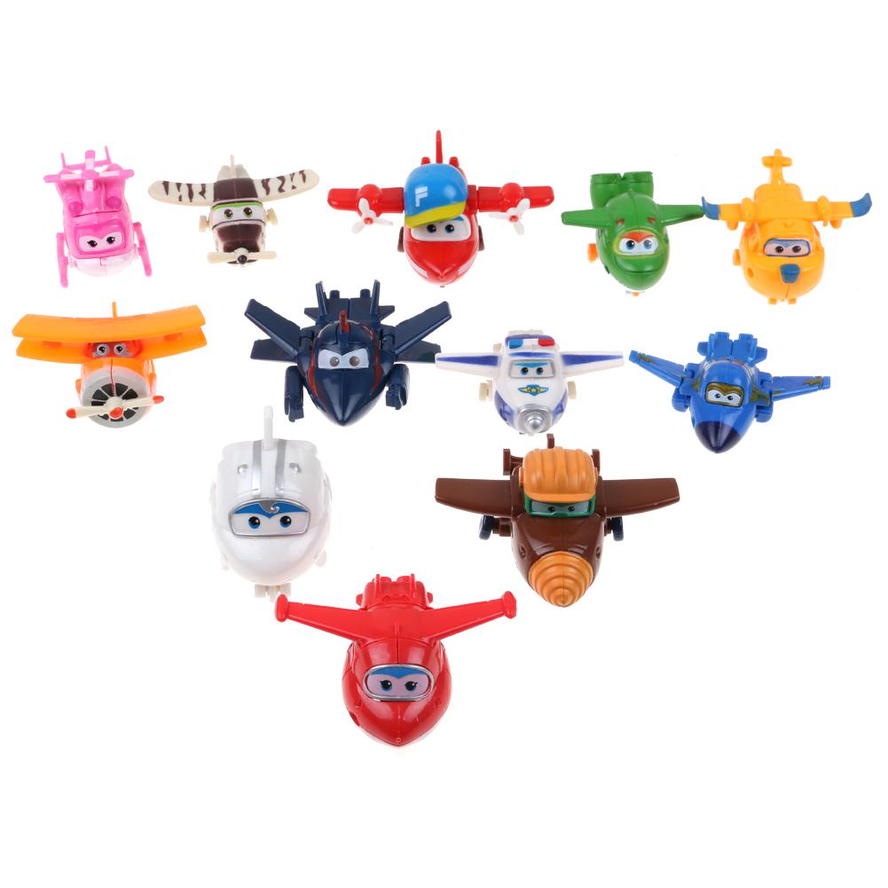 8Pcs Super Wings TV Transforming Animation Air-Planes Mini Kids Toy Xmas Gift