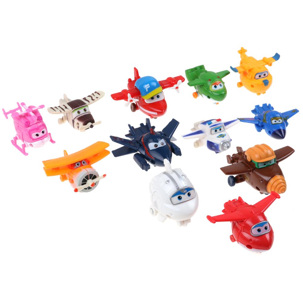 4//8//12Stk Super Wings Mini Transform Flugzeuge Spielzeug Weihnachten Geschenk DE