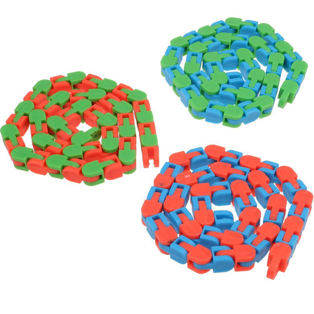 1x Wacky Tracks Fidget Toy for Kids Autism ASD ADHD Stress Relief Color Random