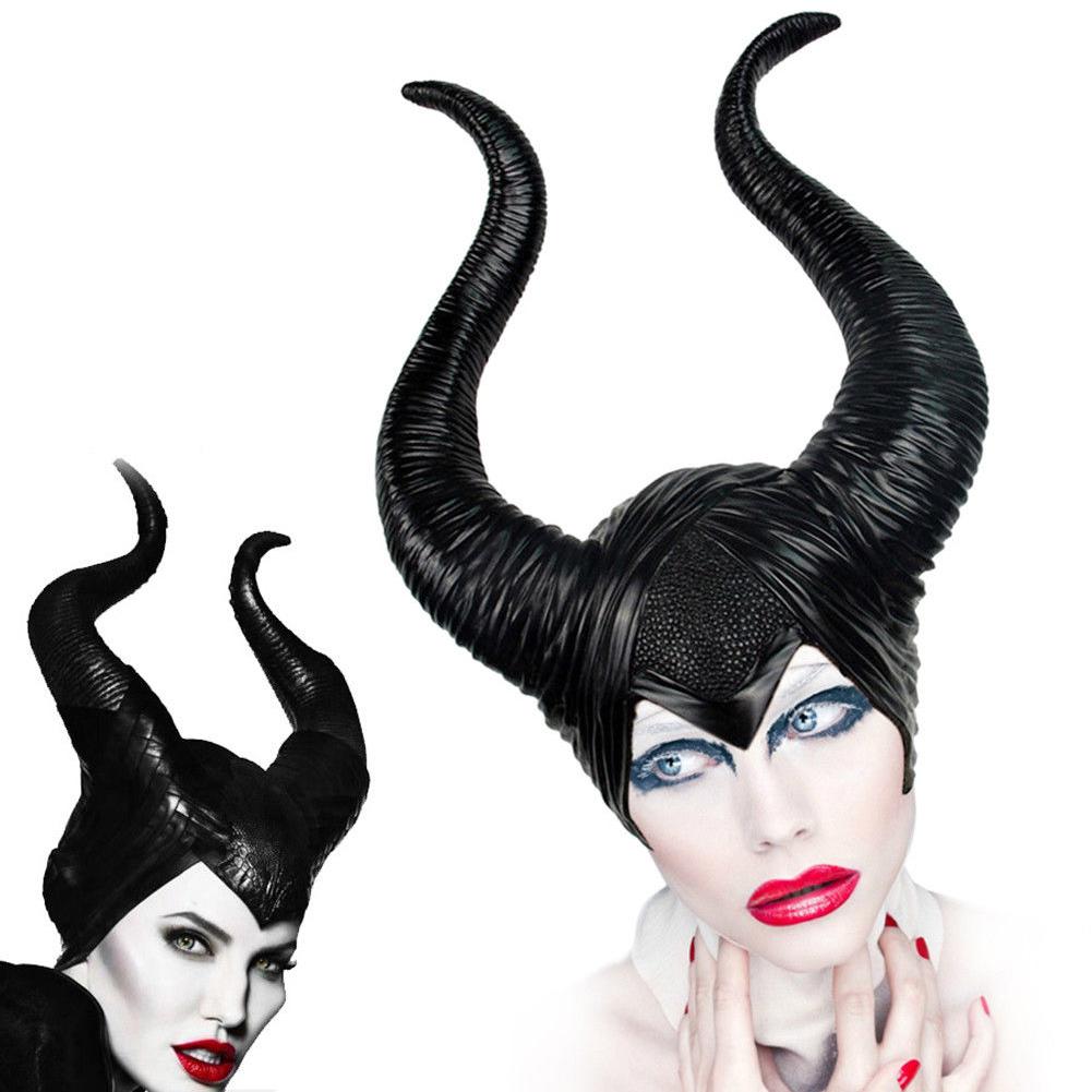 Details About Women Gilrs Maleficent Disney Horns Evil Fairy Queen Hat Headpiece Halloween