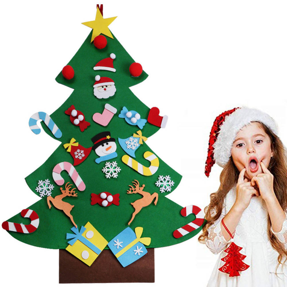 Toddler Christmas Tree Craft.Details About 3d Diy Felt Toddler Christmas Tree New Year Kids Gifts Toys Playtime Kids Tree