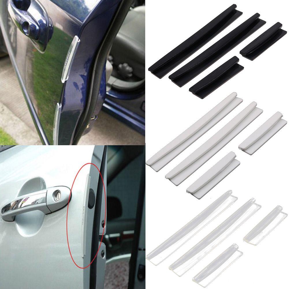 4 PCS SET BLACK BLADE CAR DOOR EDGE GUARD BUMPER SCRATCH PROTECTOR MOLDING TRIM