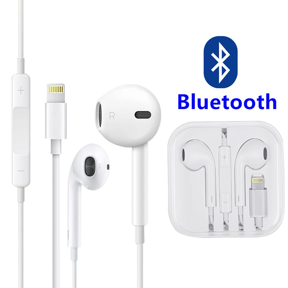 For Apple iPhone X 8 7 7 Plus Bluetooth Earphone Wired