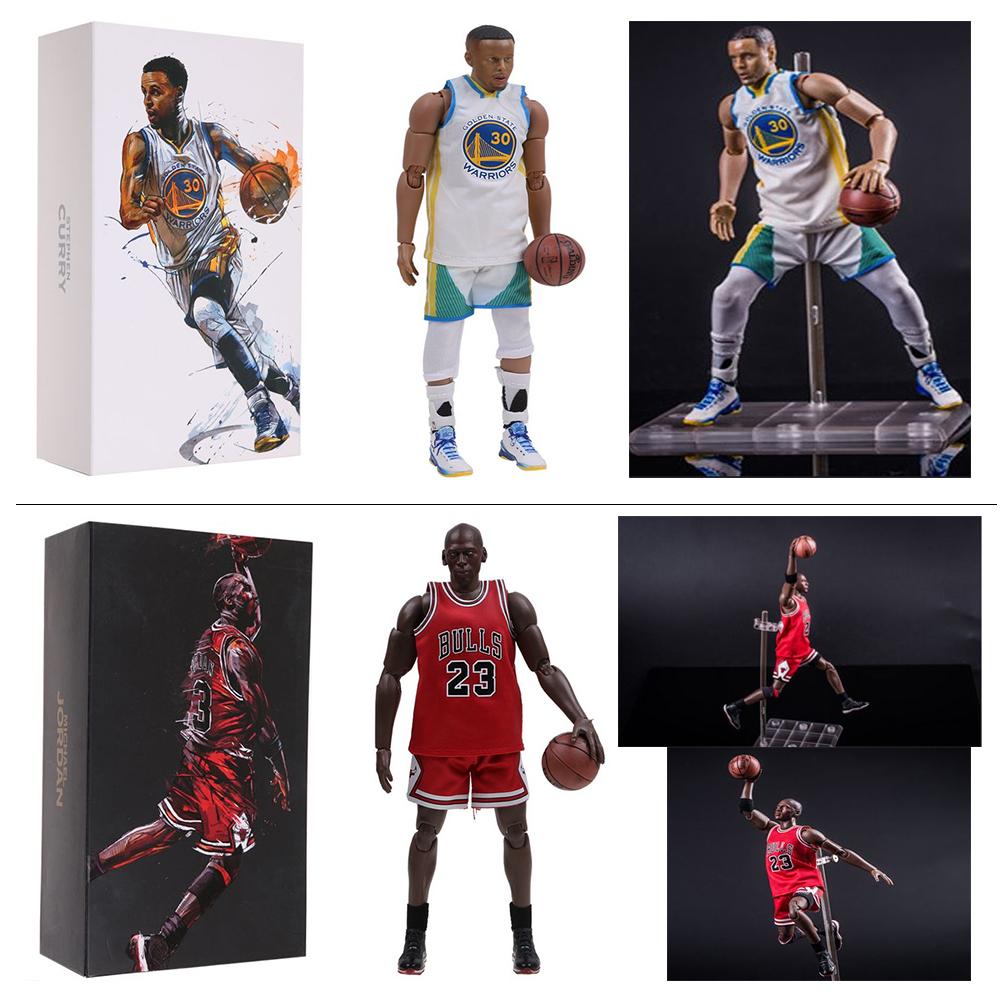 78929aff53d 1 9 Scale NBA Collection Stephen Curry  Michael Jordan Motion Masterpiece  Figure