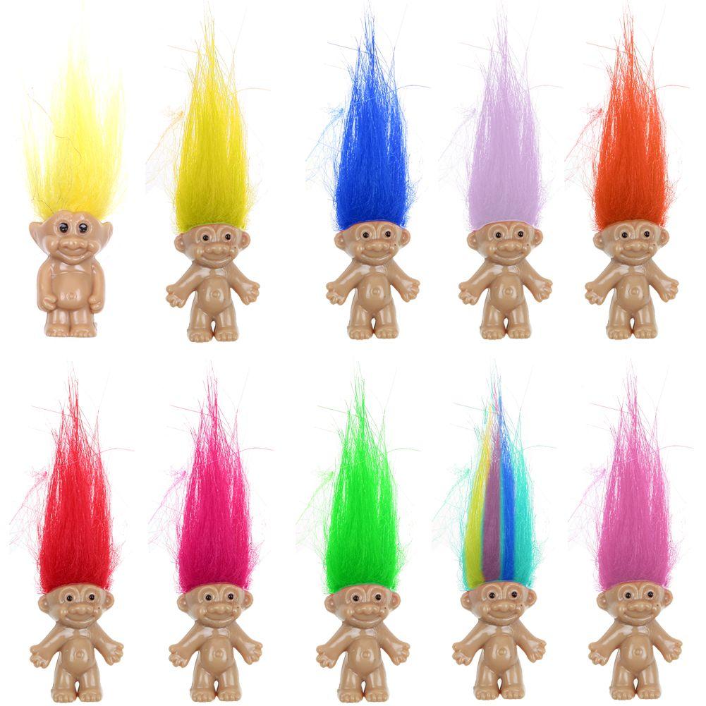 10Pcs//Set Lucky Troll Doll Leprechauns Minifigure Toy Pen Cake Decoration Kids