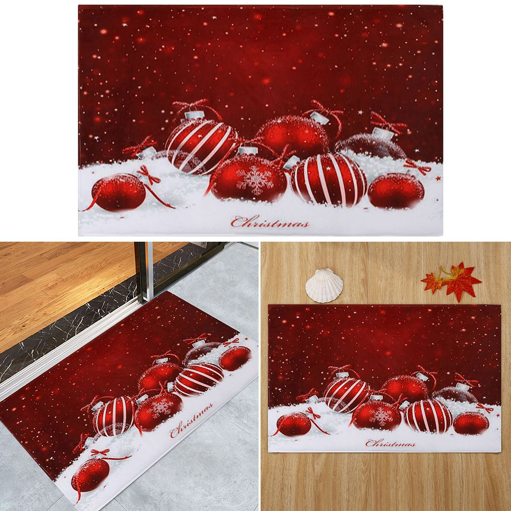 3d Christmas Dining Room Rubber Carpet Soft Area Rug: Christmas Rugs Anti-Skid Area Rug Dining Room Home Bedroom