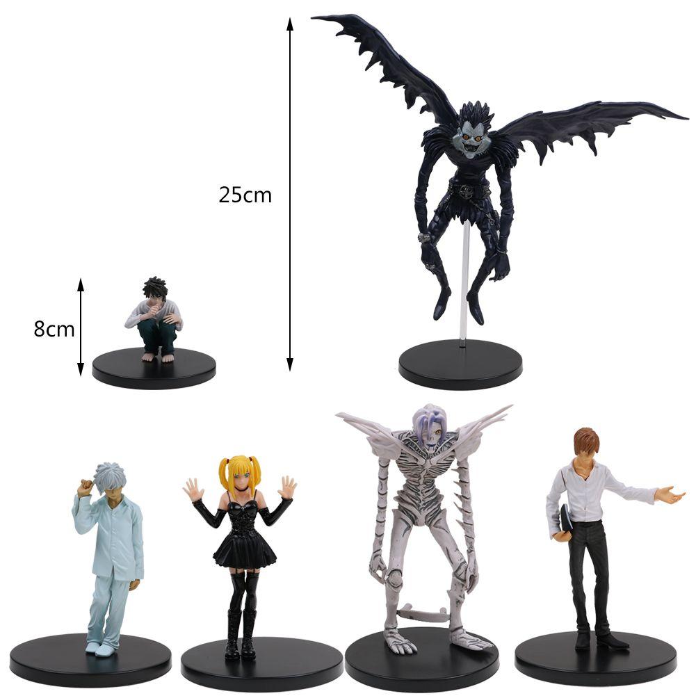 JP Anime Death Note Rem Lawliet Misa Ryuk Yagami Kira PVC Action Figure Toys DE Action- & Spielfiguren