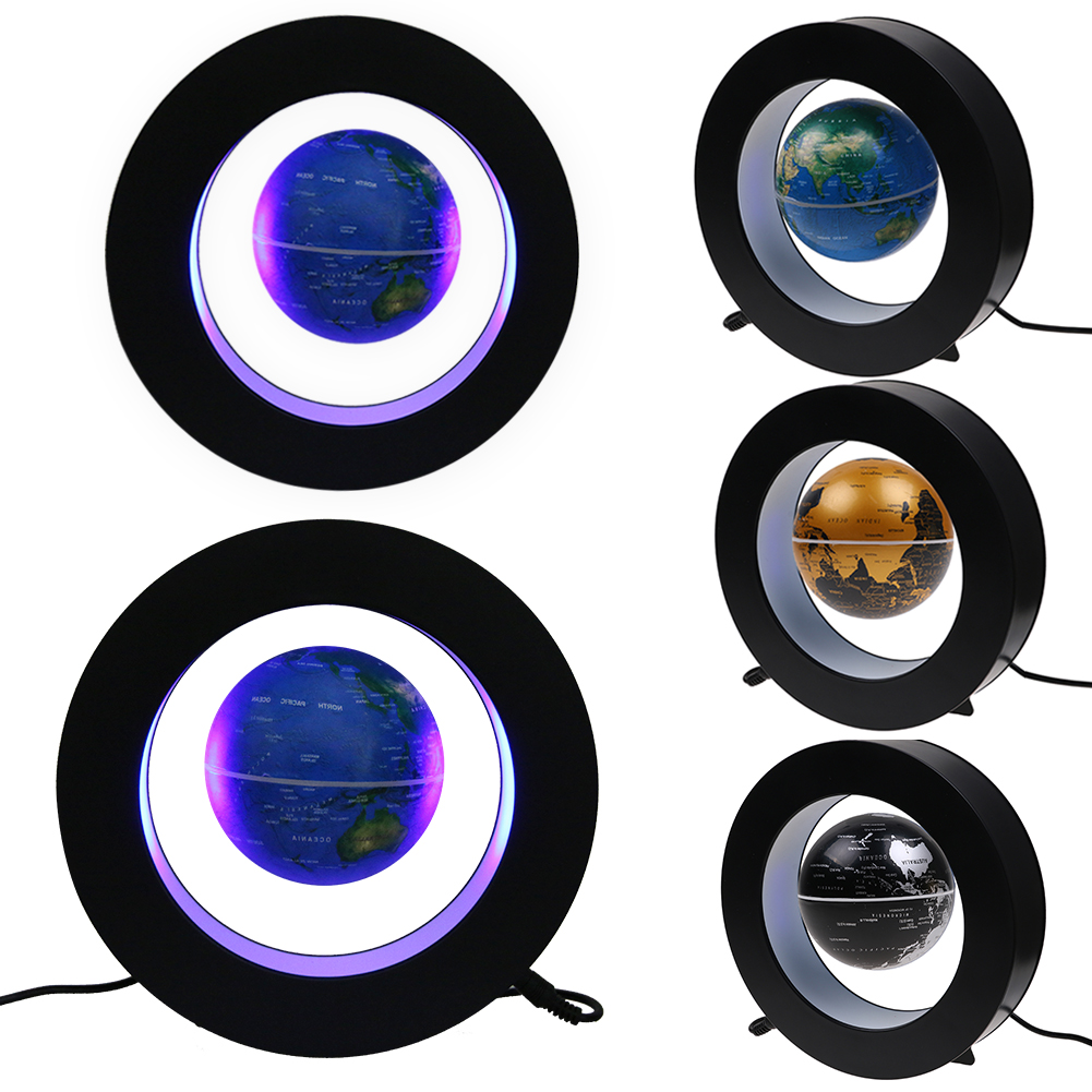 Magnetic Floating Globe LED Light Anti-gravity Rotating World Map Xmas Gift CA