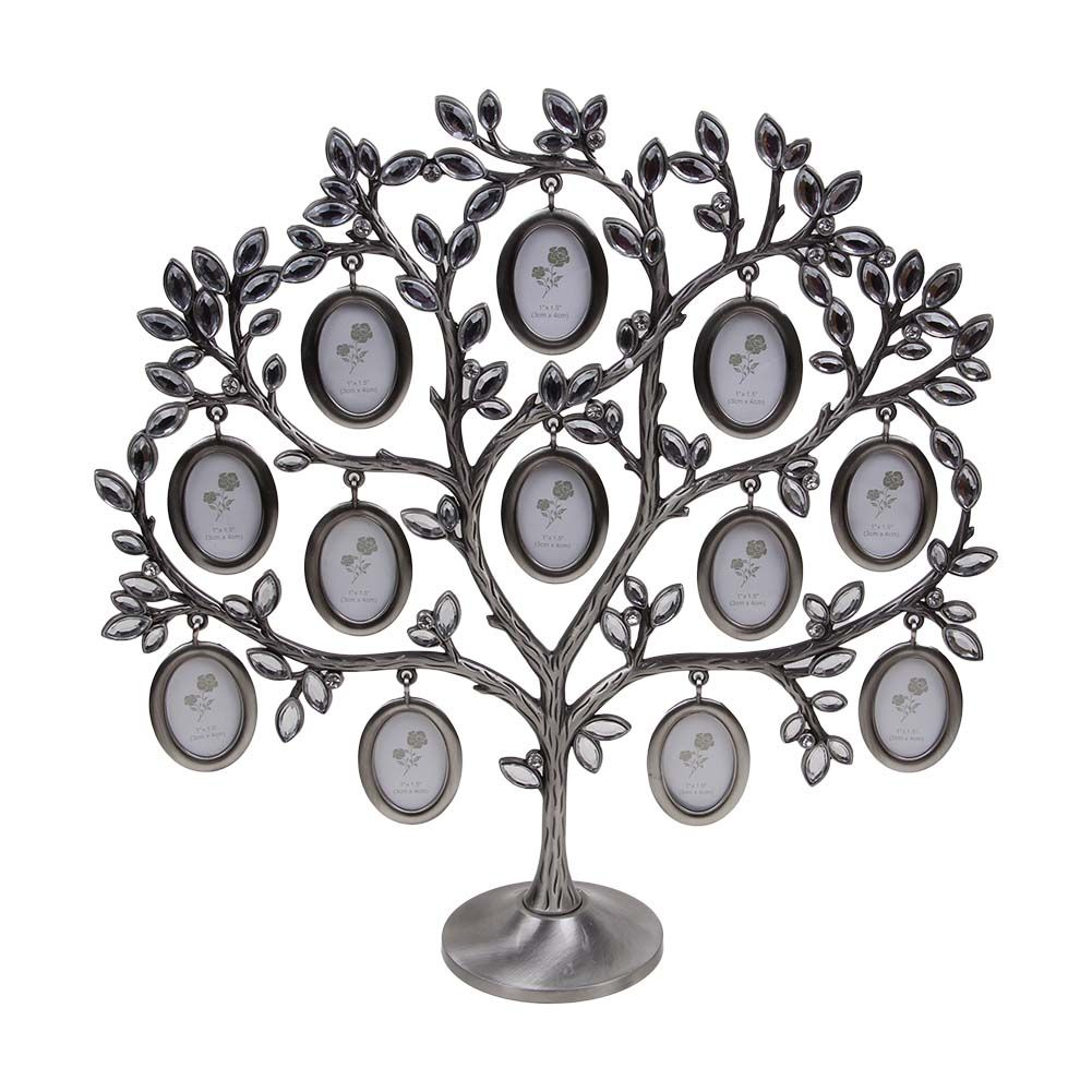 Vintage Decorative Metal Family Tree Photo Picture Frame Metal Wall