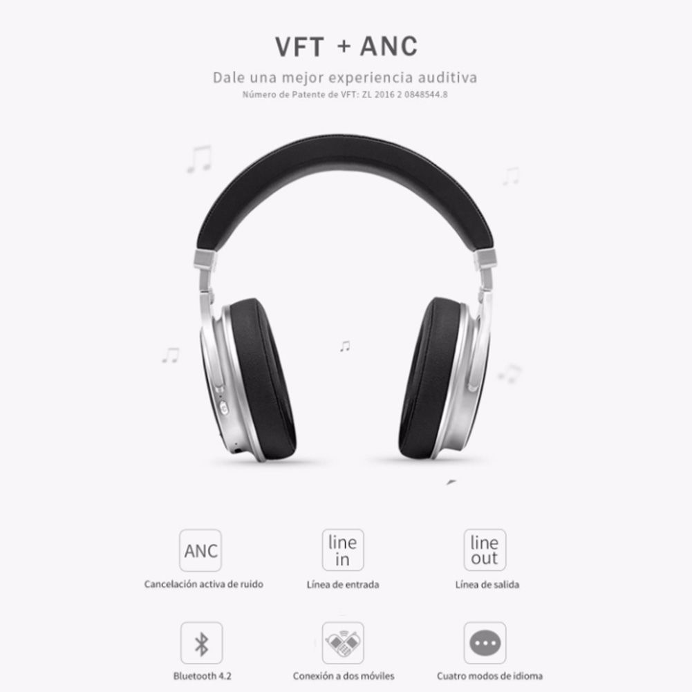 Bluedio F2 Headphones ANC Wireless Bluetooth with Mic Stereo Music Headsets