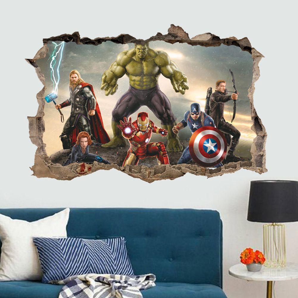 Beau Details About 3D The Avengers Hulk Ultron Kids Wallpaper Wall Sticker Decal  Decor Bedroom US