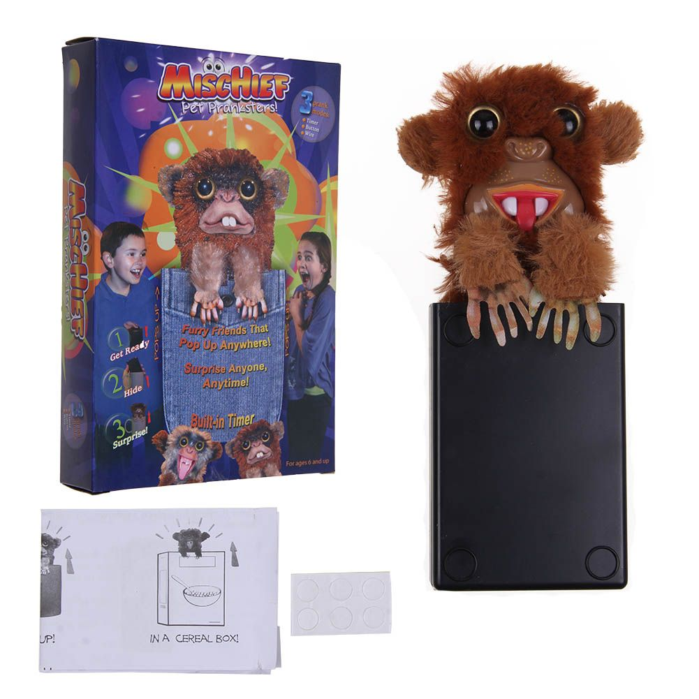 Details about Innovative Sneekums Pet Pranksters Toy Tricky Pop Up Spoof Monkey Surprise Toy K