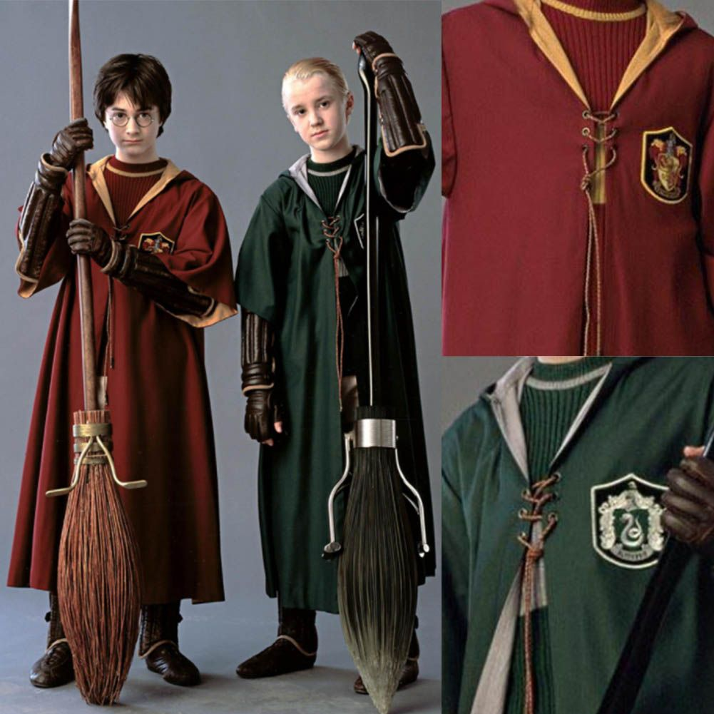 Adult Kids Harry Potter Quidditch Robe Cloak Gryffindor ...