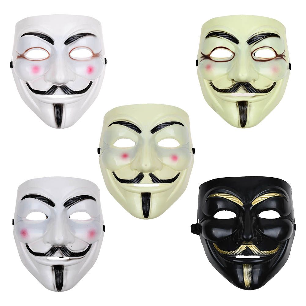 Details about anonymous hacker v for vendetta guy fawkes fancy dress face mask cosplay costume