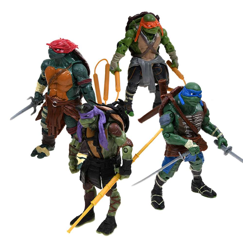 TMNT Teenage Mutant Ninja Turtles Lot 4 Action Figur Figuren Sammeln & Seltenes