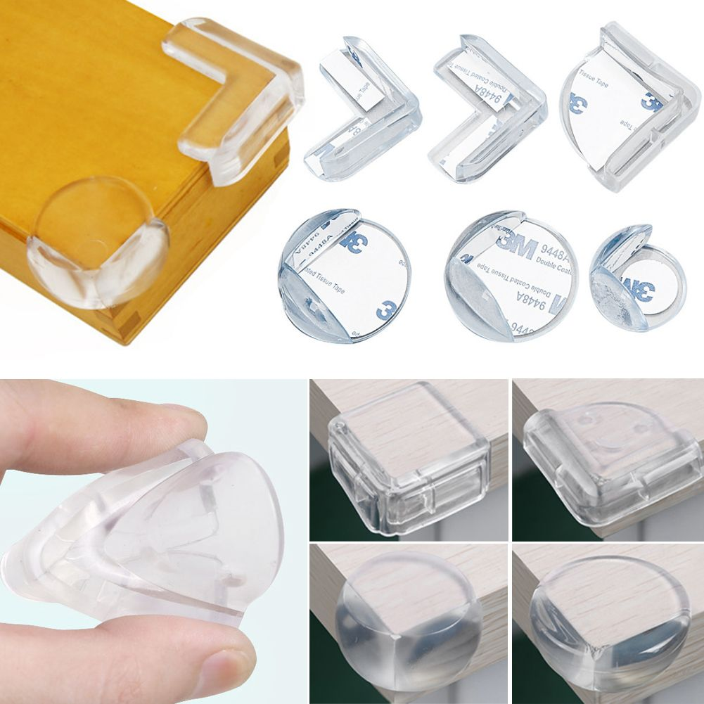 4PCS Clear Table Corner Edge Cushions Baby Proofing Safety Bumper Protector New
