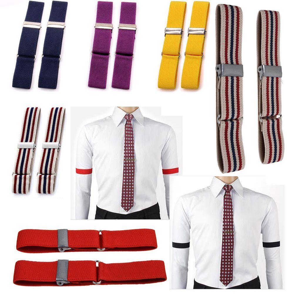 2x Blouse Sleeve Holder Arm Bands Garter Elasticated Band Men/'s Sleeves New FY