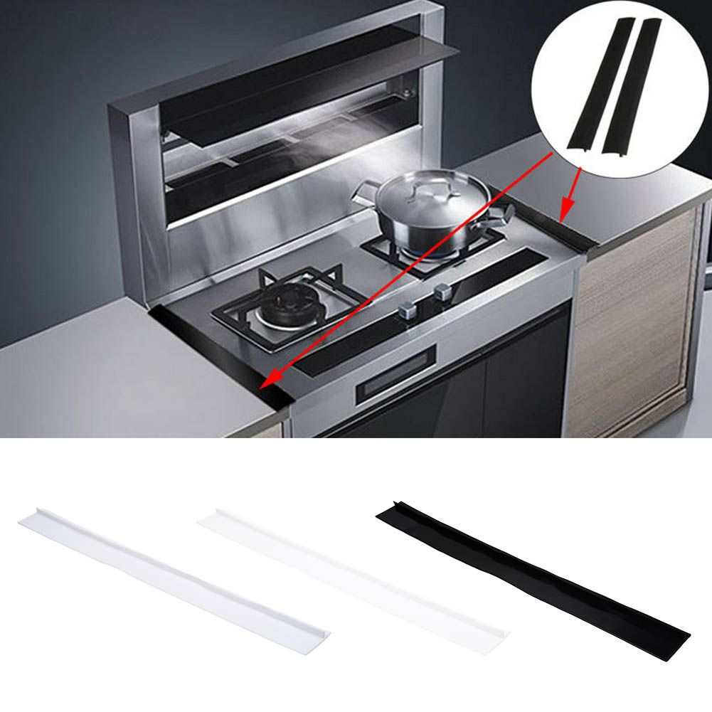 Silicone Kitchen Stove Counter Gap Cover Oven Guard Spill Seal Slit Filler Hot