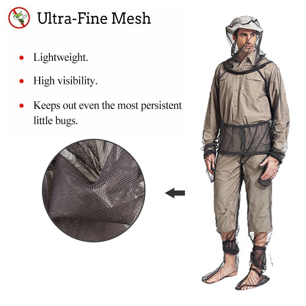 Mosquito Suit Jacket Mitts Pants Socks Net Yarn Mesh Cloth Outdoor Bug Wear Ant