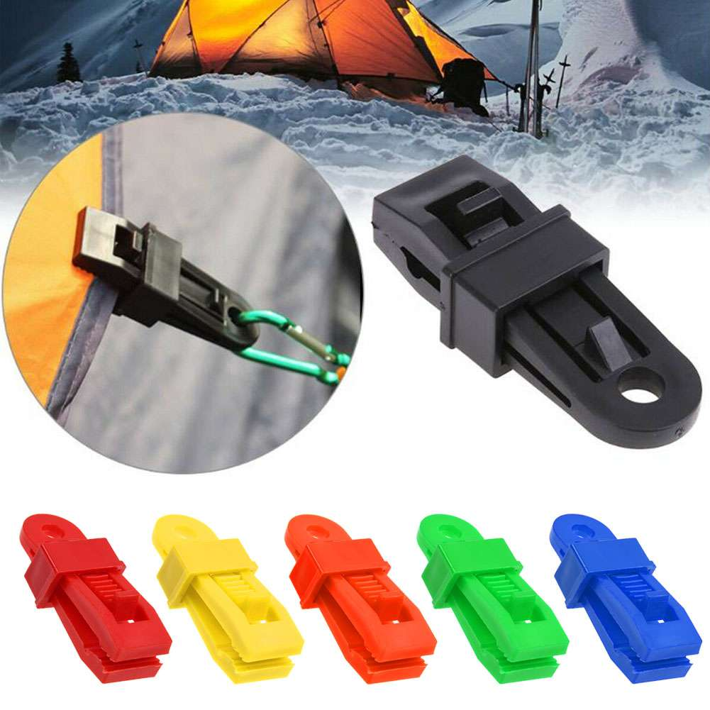 100pc Awning Clamp Set Tarp Clips Snap Hangers Survival Emergency