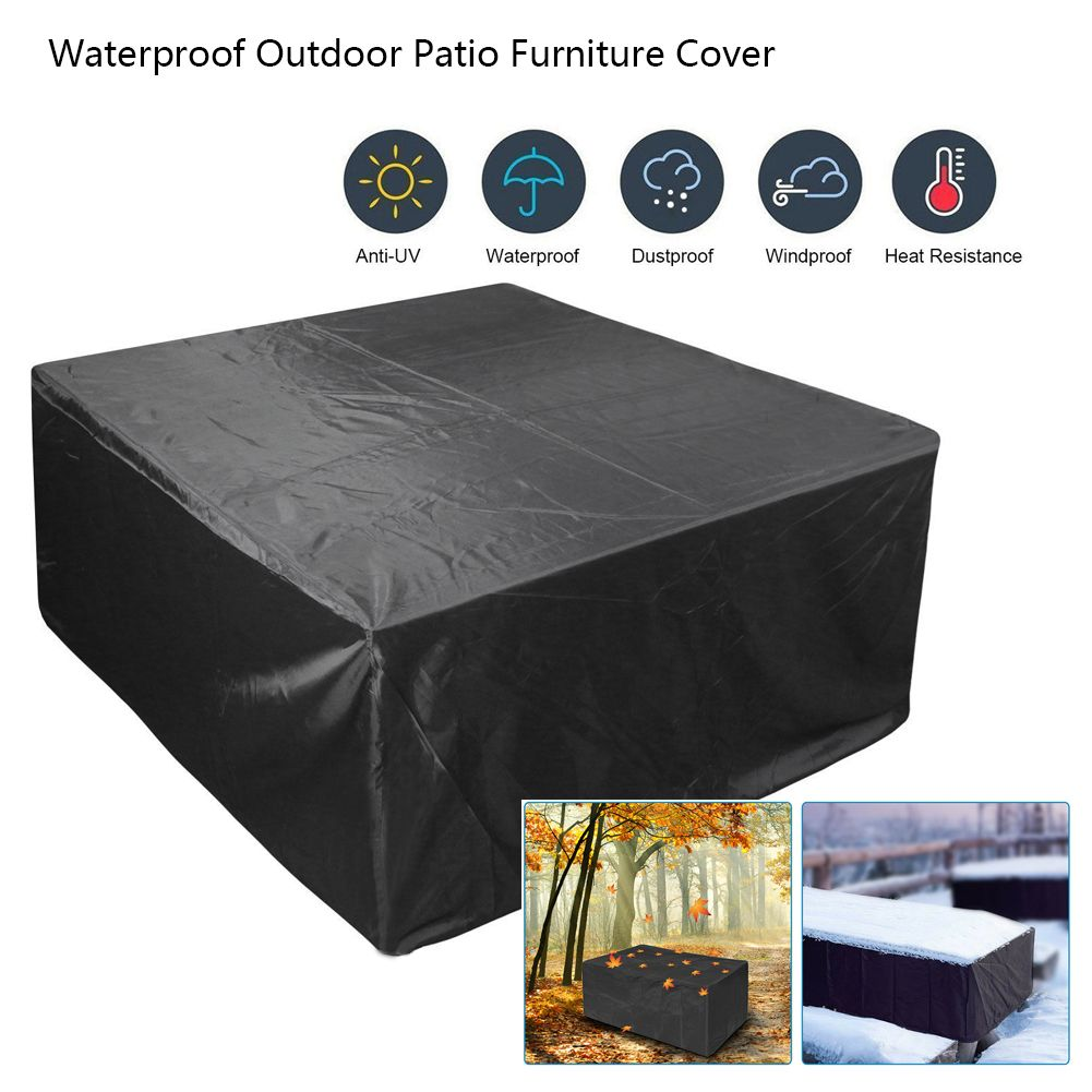 123x123x74cm Patio Table Covers for Rectangular Outdoor Sofas and Chairs Waterproof /& Windproof Patio Furniture Covers Garden Furniture Covers Anti-UV Oxford Fabric Rattan Furniture Covers