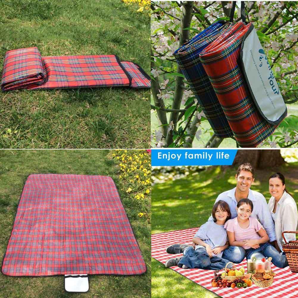 Extra Large Foldable Waterproof Fleece Picnic Camping Blanket Travel Beach Rug