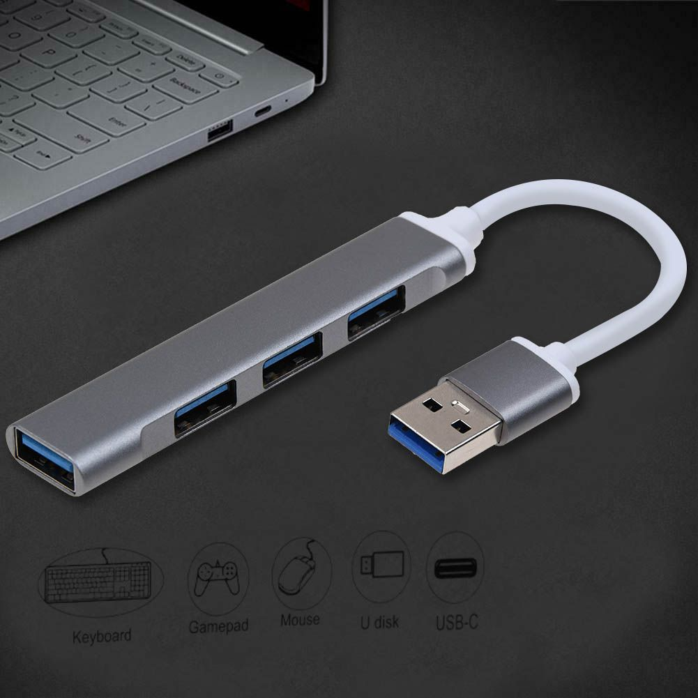 4-Port USB 3.0 Hub MacBook 5Gbps Slim Aluminum USB-A Data Hub for iMac Pro