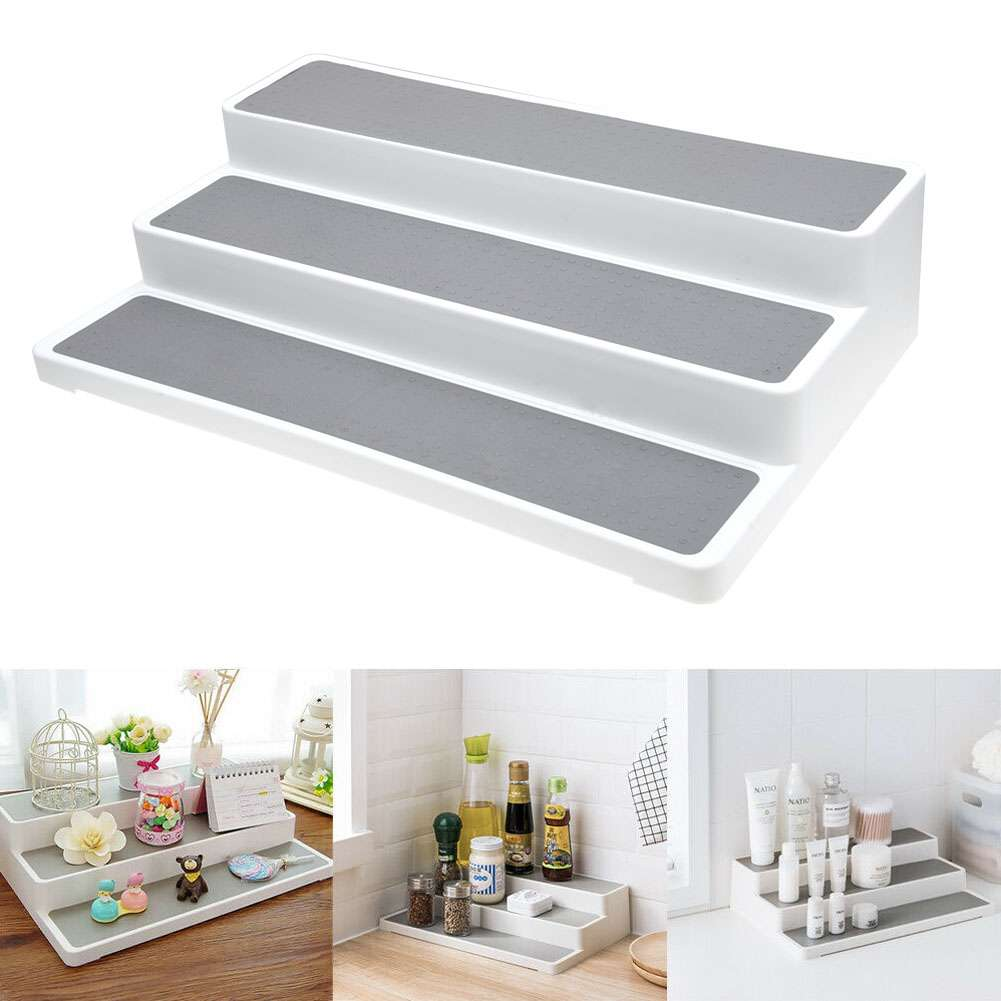 Details About 3 Tier Spice Rack Step Shelf Organizer Kitchen Seasoning Bottle Jar Stand Au