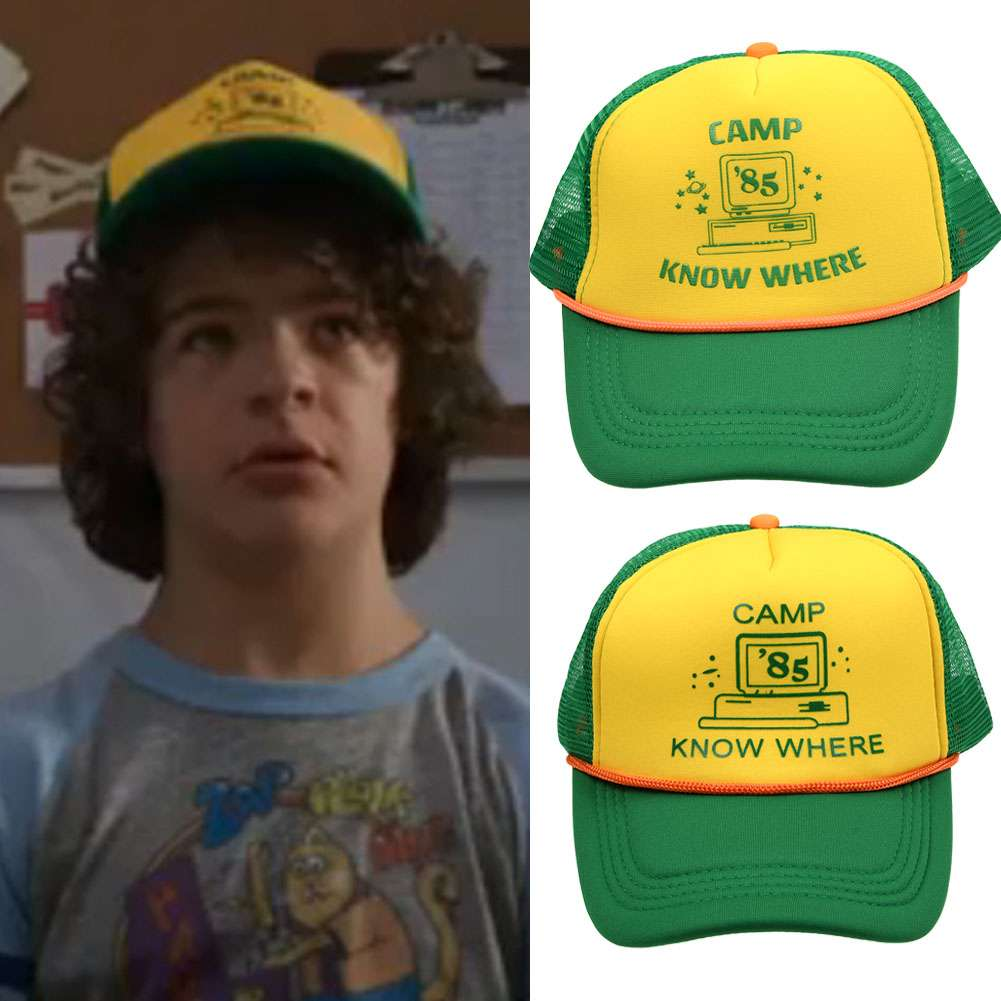 8d7bee157 Details about 2019 Stranger Things Dustin Hat Retro Mesh Trucker Camp Know  Where Adjust Cap AU