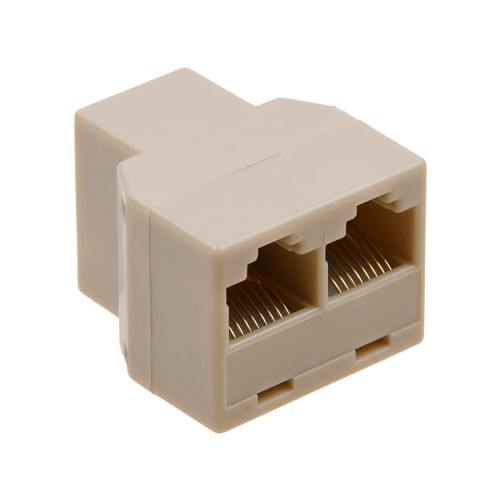 RJ45 CAT5 6 Ethernet cable LAN Port 1 to 2 Socket Splitter Connector Adapter-PC