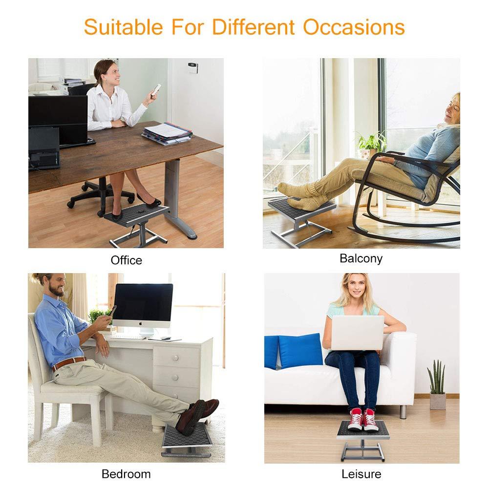 Adjustable Foot Rest Ergonomic Footrest Foot Stool Under Desk For Office Home Ebay