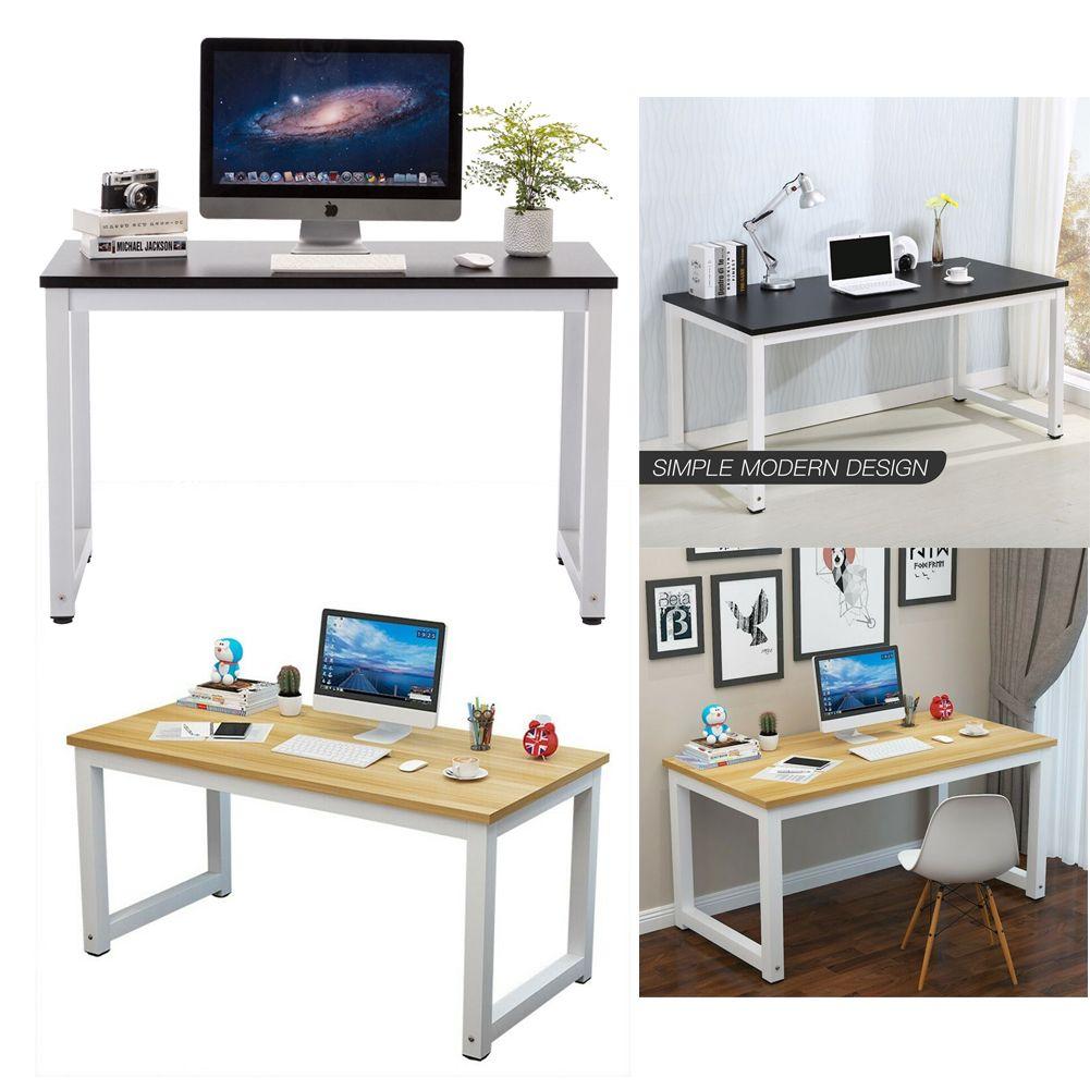 Details about PC Computer Desk Corner Wooden Desktop Table Home Office  Workstation Modern US