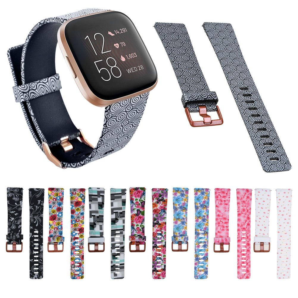Mocodi Versa 2 Band and case Compatible with Fitbit Versa 2 for Women Men Soft Silicone Sport Strap Replacement Wristband with TPU Screen Protector case Accessories for Fitbit Versa 2 SmartWatch