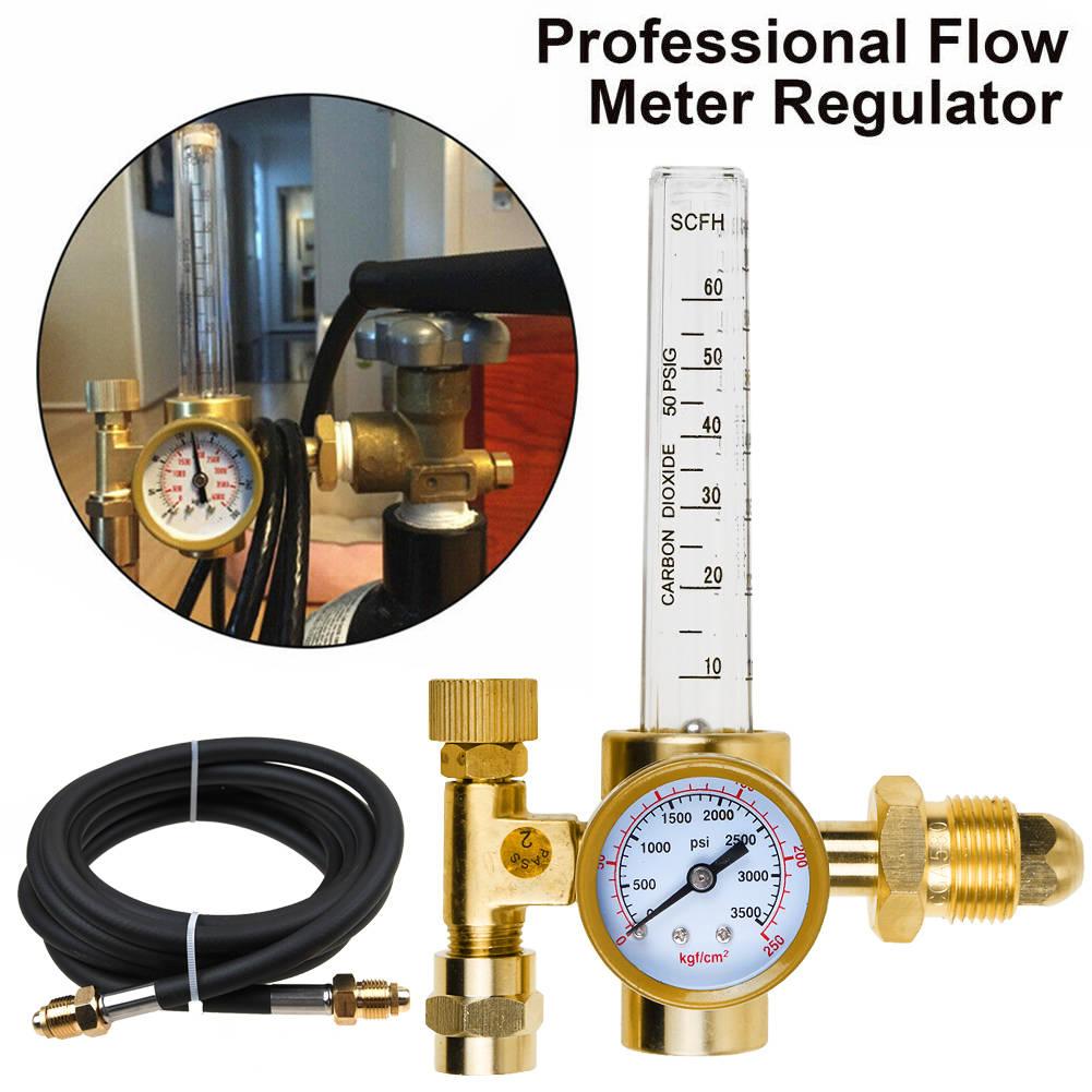 Argon CO2 Mig Tig Flow Meter Regulator w// Hose 4 Gas Welding Weld Machine NEW