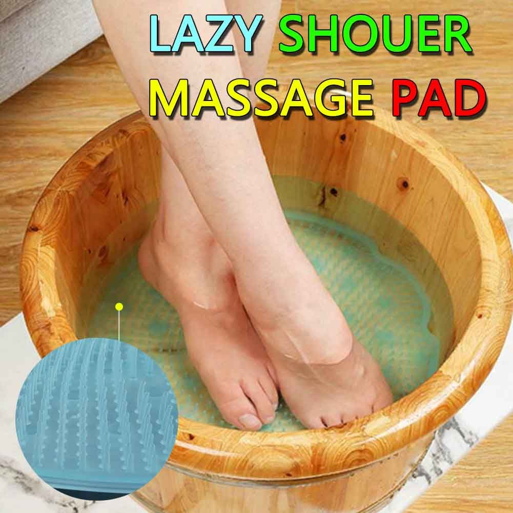 Lazy Bath Massage Pad 1PCs Silicone Suction Cup Bathroom Shower Mat Non-slip Bat