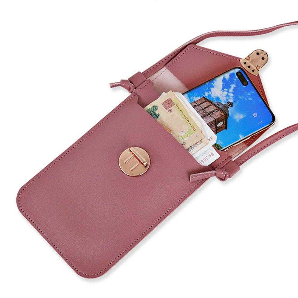 Details zu Damen Touchscreen Handy Schultertasche Handytasche Kleine PU Leder Umhängetasche