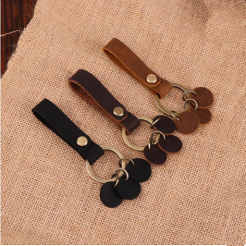 Key Chain /& Leather Belt Loop Key Holder Ring Keychain Keyring Keyfob Unisex