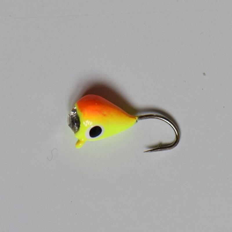 6Pcs Ice Fishing Jigs Tungsten Jig Glow Winter Jigging Colors Fishing Lures.