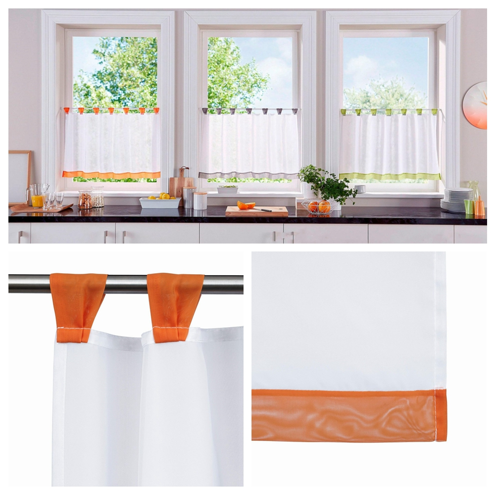 Available Cafe Panel Kitchen Bathroom Ready Made Voile Net Curtains 6 Size Sfhs Org