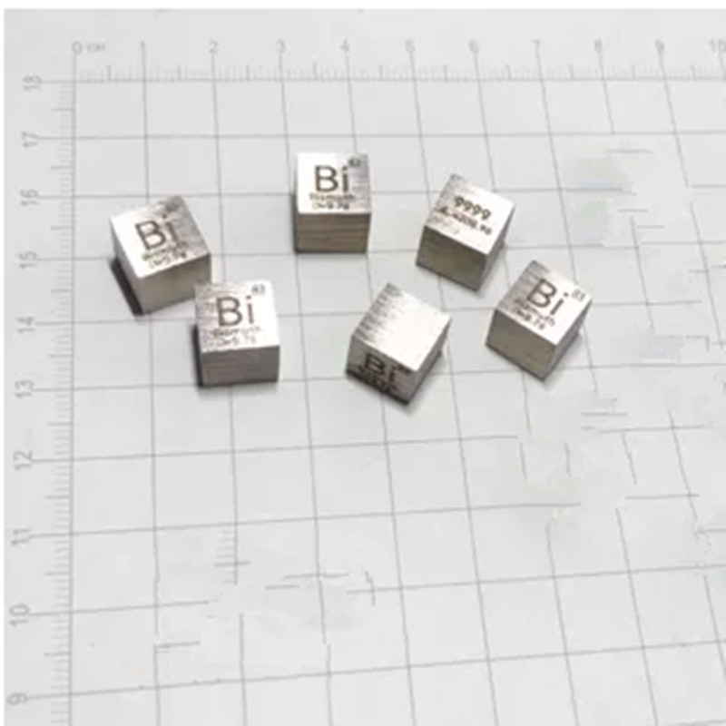 Details About 10mm High Purity 99 99 Bismuthe Bi Metal Carved Element Periodic Table New