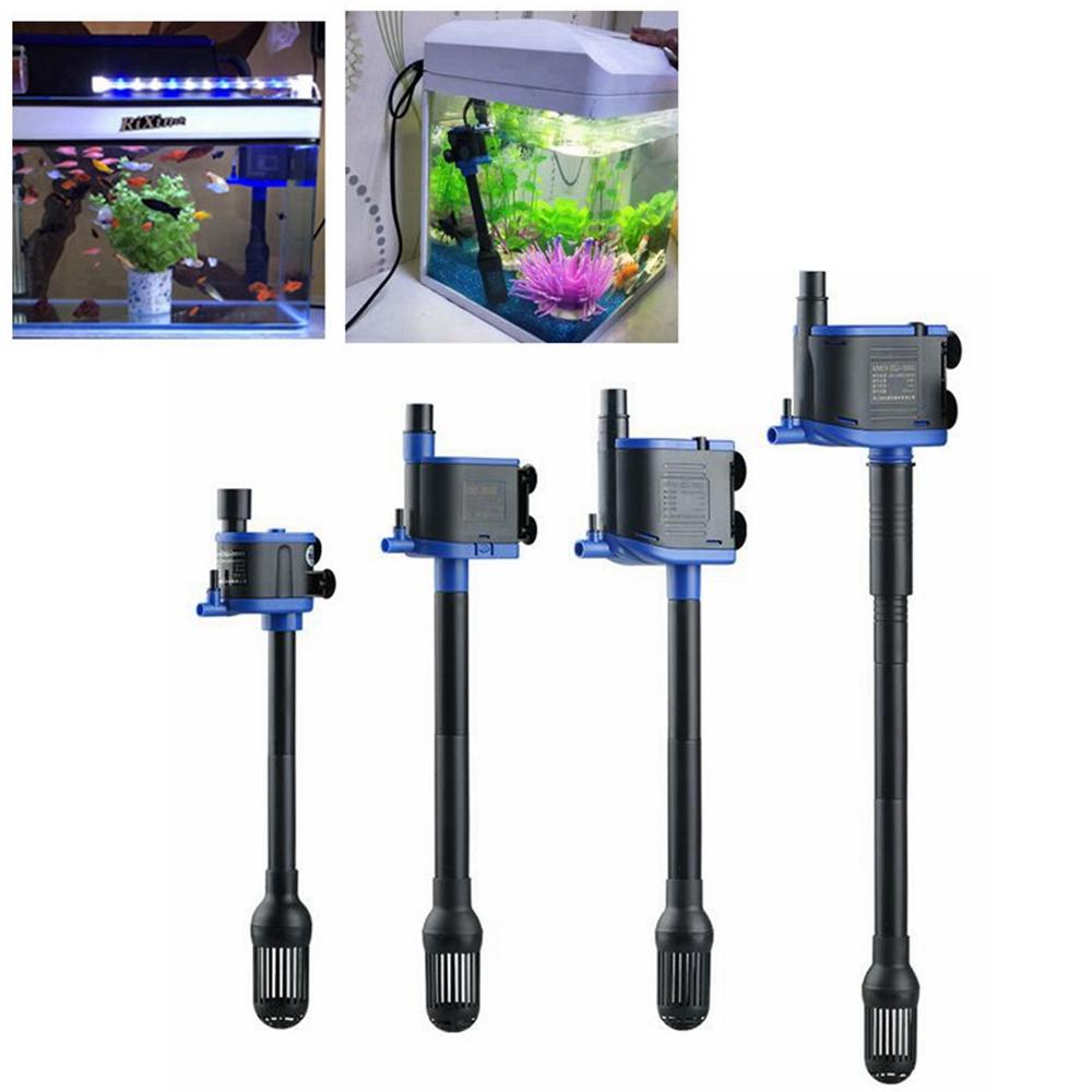 Water Air Pump Filter Submersible 3In1 Low Power Consumption Fish Tank Aquarium
