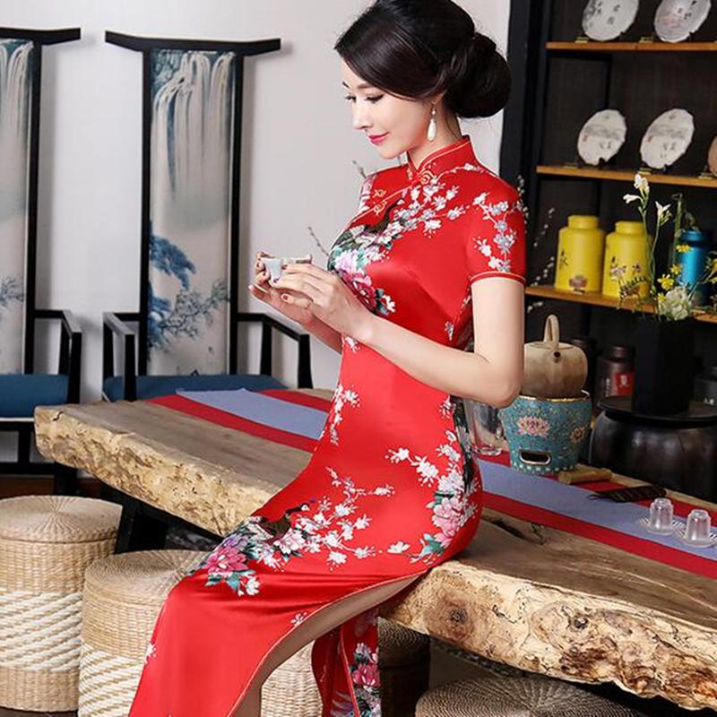 243233a6b7481 Chinese Long Women's Evening Dress Ball Cheongsam Qipao Traditional Plus  Size. Product View