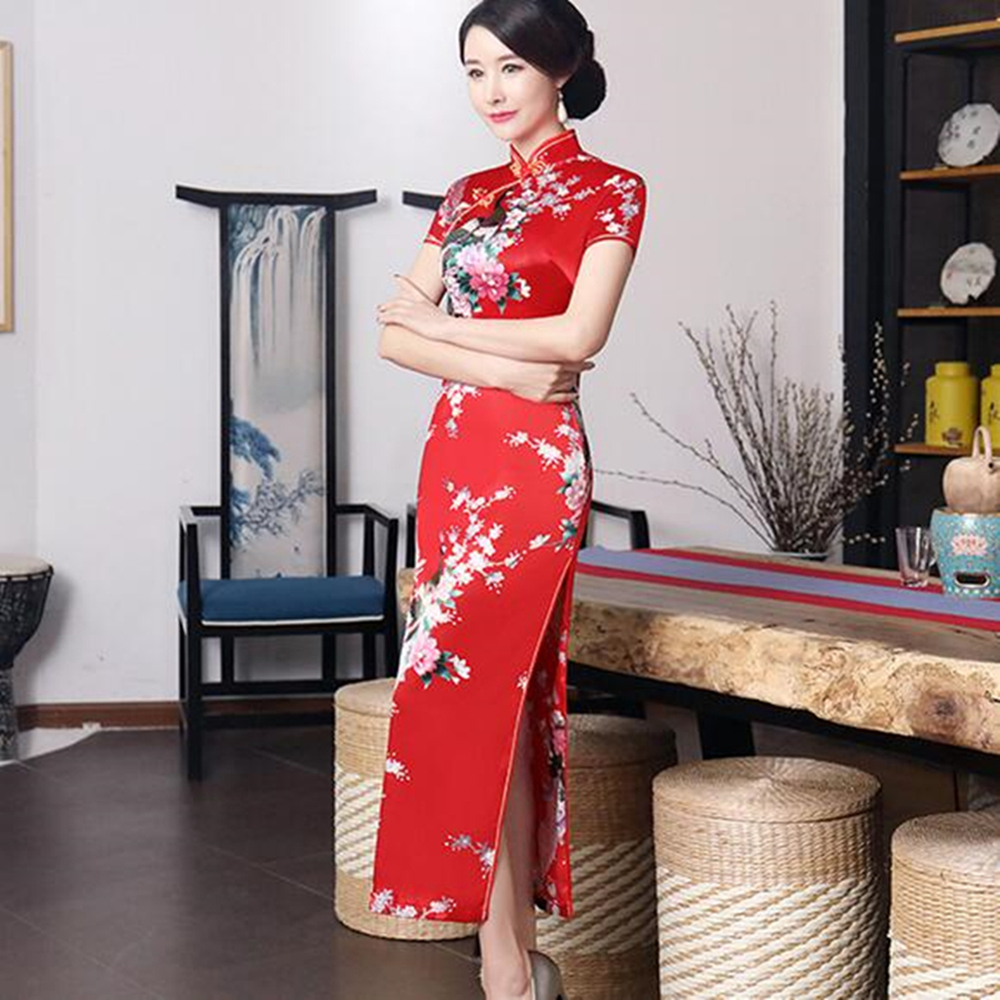 Details about Chinese Women\'s Evening Dress Ball Long Cheongsam Qipao  Traditional Plus Size