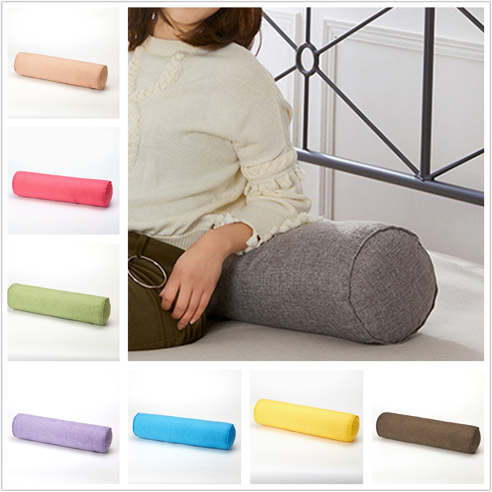 Cotton Mushy Throw Rectangular With Bolster Cover Round Long Roll Tube Pillows