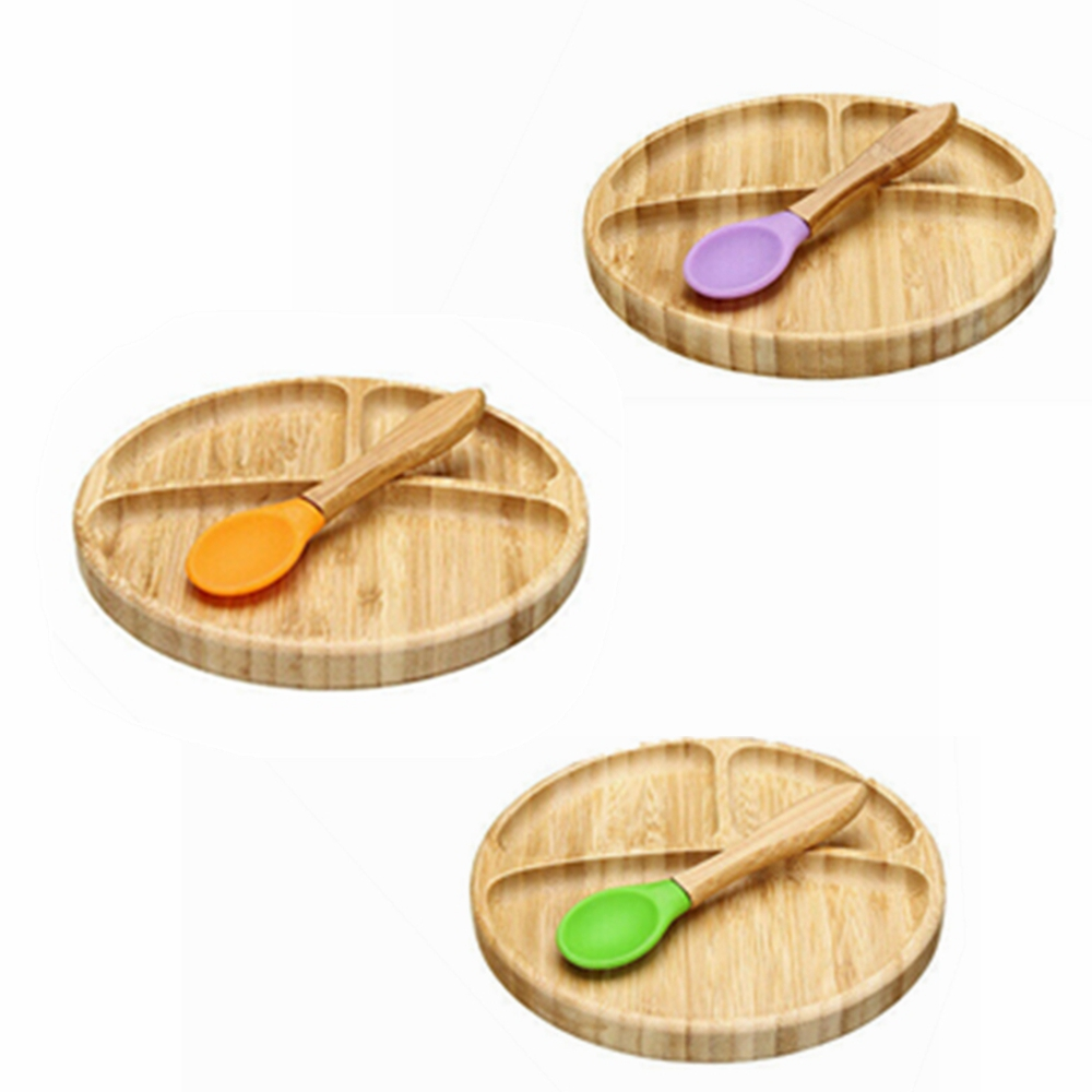 Tiny Chipmunk Baby Bamboo Bowl /& Spoon Set With Suction Choice of Colour