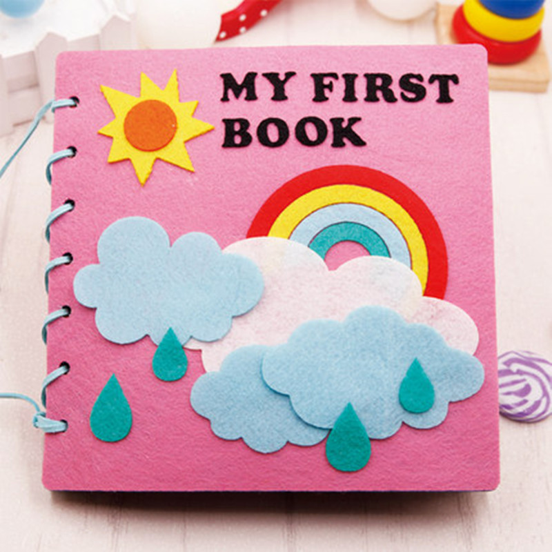 Kids Activity Pages Busy Book Felt Toys -Bake a Cake Quiet Book Page Pre School Learning Layer Cake Playset Page- Toddler Learning